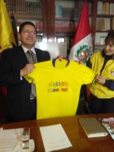Embajada de Ecuador organiza bicicleteada
